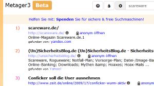 MetaGer: sichere Suchmaschine
