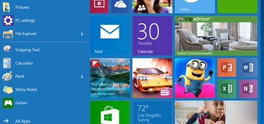 Windows 10: neues altes Startmenü mit Kacheln (Bild: Microsoft)