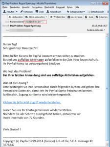 Das Problem: Paypal Sperrung