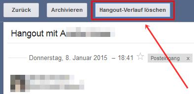 Google-Hangout-Verlauf löschen