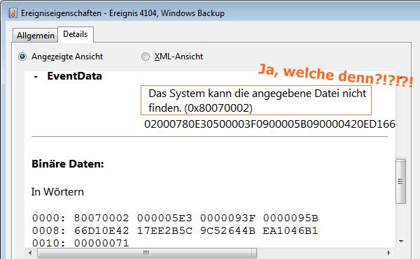 Das System kann die angegebene Datei nicht finden. (0x80070002)