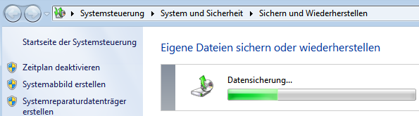 Die Windows-Datensicherung sichert ... (hoffentlich!)