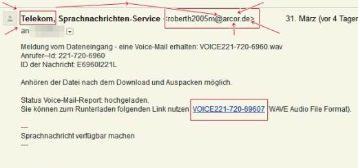 Eine nicht abgerufene Voice-Mail für Sie
