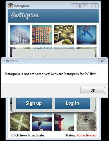 Instagram for PC: kein Login ohne 'Aktiviereung'