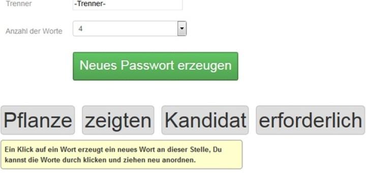 Passwort Generator: gute-passwoerter.de