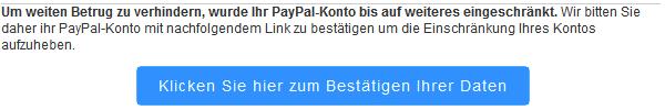 PayPal: 'Nicht autorisierte Zahlung ... aufgefallen'