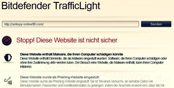 Website auf Malware prüfen mit Bitdefender