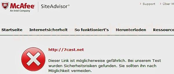 McAfee Siteadvisor schätzt das Risiko von Webseiten ein