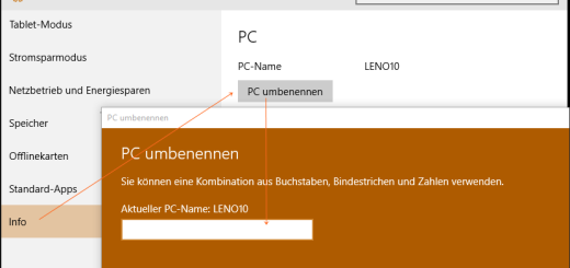 Windows 10: Computer umbenennen